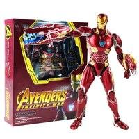 16cm Super Hero SHF S.H.Figuarts Avengers Infinity War Iron Man MK50 Figure Toys PVC Ironman Mark50 Figurine Doll