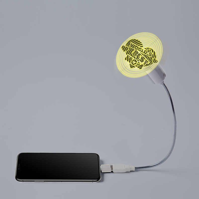 New mini USB 3d ba chiều led fan quảng cáo ánh sáng đồ chơi phát sáng món quà mới lạ quà tặng năm mới cho trẻ em trai sinh nhật căng thẳng đồ chơi