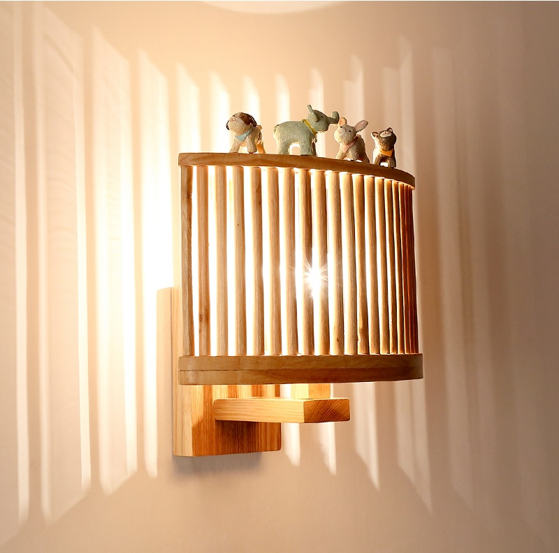 Wall Lamps with Solid Wood Fence Lantern, Solid Wood Design 26cm Width Birdcage inspired Design g 3pcs pottery tools 18 5cm 26cm 31cm wood calipers for proportioning t