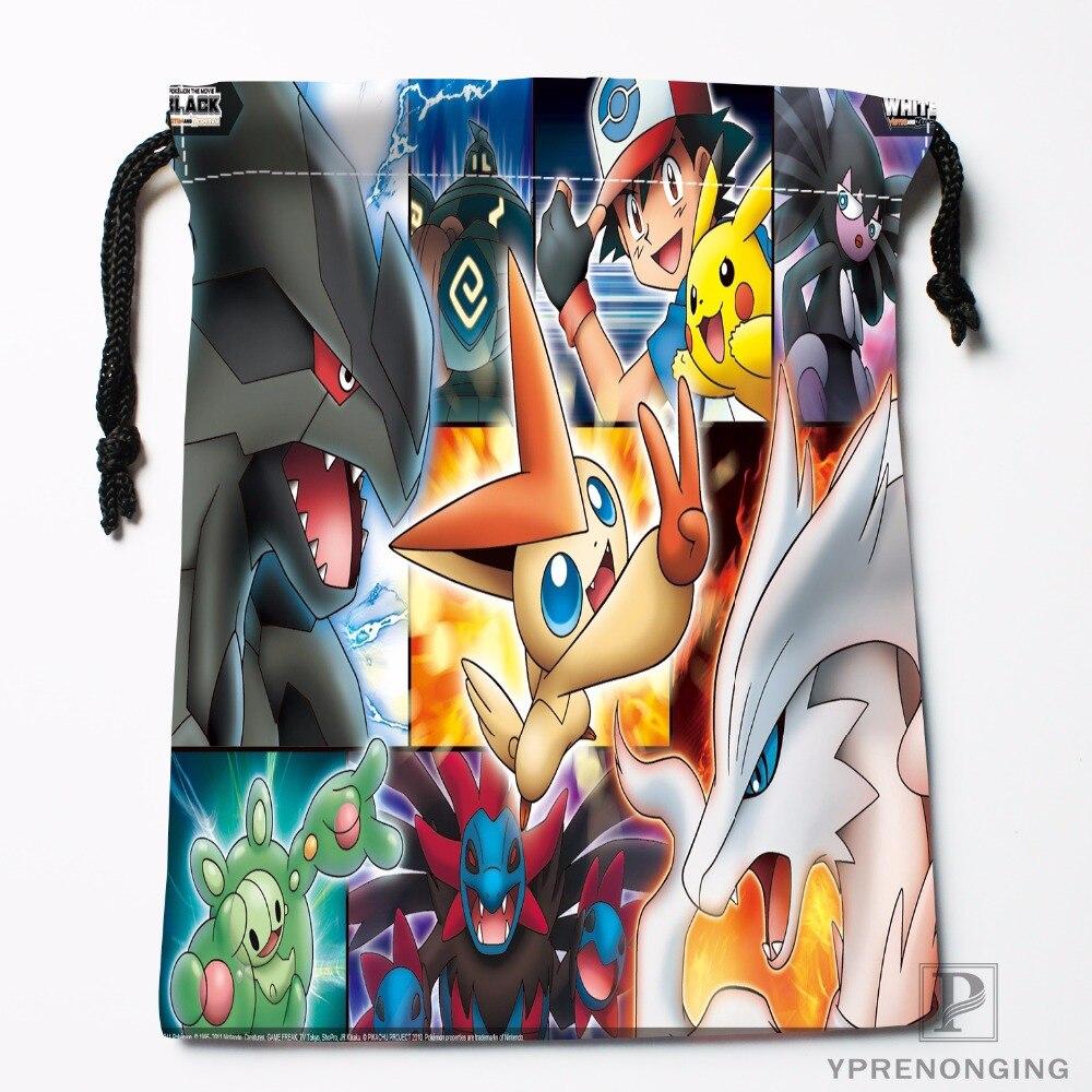 Custom Pokemon Drawstring Bags Travel Storage Mini Pouch Swim Hiking Toy Bag Size 18x22cm#0412-03-33