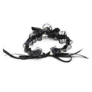 Image 2 - סקסי הלבשה תחתונה יפה קוספליי חתול צווארון BDSM Bondage משענות תחרה צווארון עם פעמון פטיש עבדים מין אביזרי עבור נשים