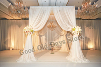 White Wedding Pavillion with stainless steel Pipe Stand Wedding Decoration