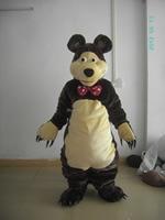 2016 New Black Bear Cartoon clothing Performance Clothing Mascot Costume adult size free shipping