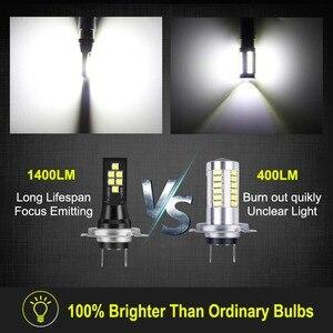 Image 5 - 2Pcs H7 LED Bulb Super Bright 1400lm 12 3030SMD Car Fog Lights 6000K White Driving Day Running Lamp Auto DC 12V 24V