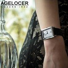 Agelcoer Casual Genuine Leather Belt Women Watches Minimalism Fashion Quartz Ladies Watches Waterproof  Gift Wristwatch