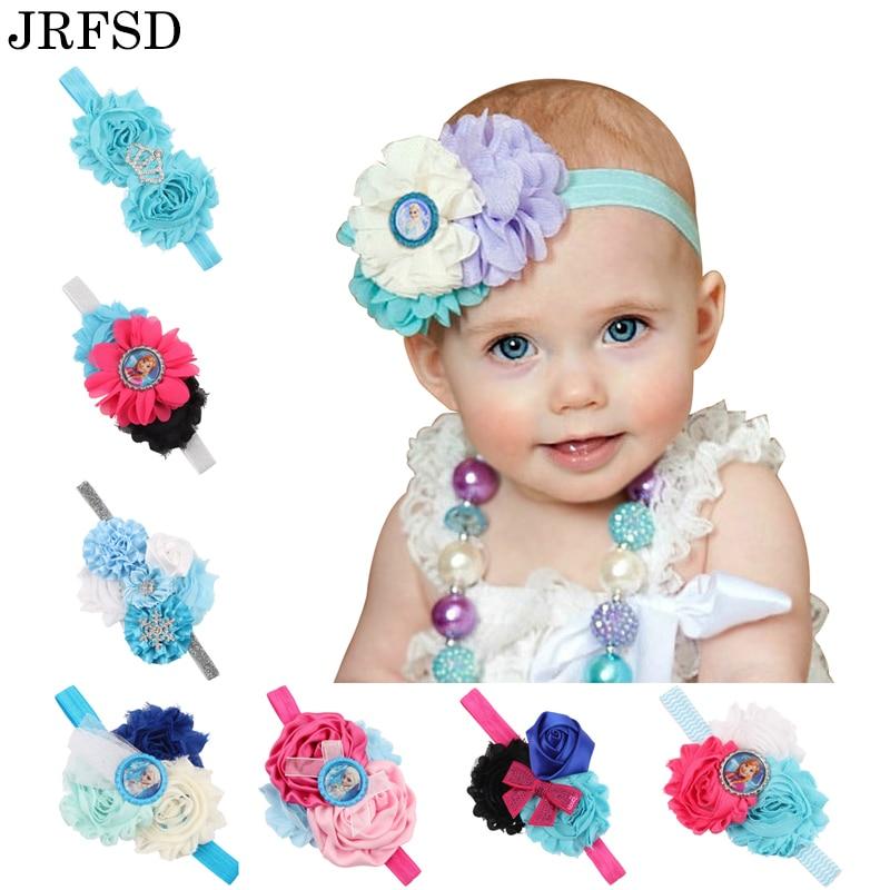 JRFSD 1Pc vaikams galvos apdangalas perlų rožių gėlių plaukų - Drabužių priedai