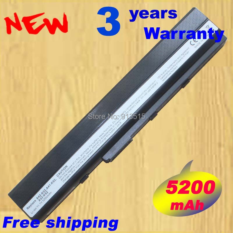 5200mAh 6cells bateri laptopë për ASUS K42 K52 A52 A52F A52J A31-K52 A42JRA X52J A42DR A42J x42J K42D K62J X42F Transporti falas