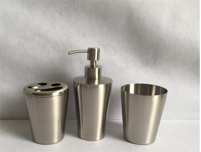 4 PCS 304 Stainless steel Bathroom Hardware Bath Decorative Accessories Sets With Latex Bottle Toothbrush Holder