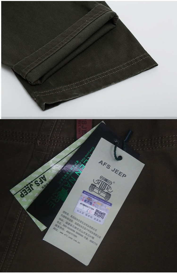 2015 Brand AFS JEEP Men New Pants Autumn Winter Cotton Cargo Casual Pants Pockets Fashion High Quality Mens Slim Pant Size 30~44 (27)