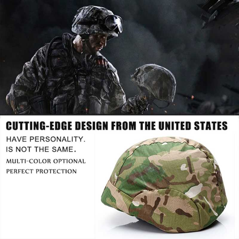 CS alan ordu fan kask kumaş taktik kask şapka gizli kamuflaj kapak kask kumaş cover2