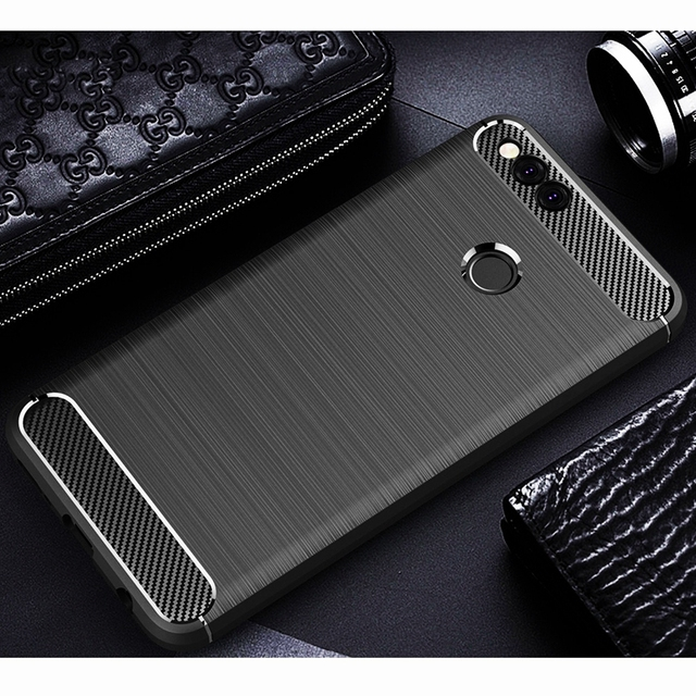 superior quality 0277f 80a5a US $2.69 30% OFF|For Huawei Honor 7X Case Silicone For Huawei Honor 7X  Cover Carbon Fiber Armor Back Cover Case For Huawei Honor 7X Case Cover-in  ...