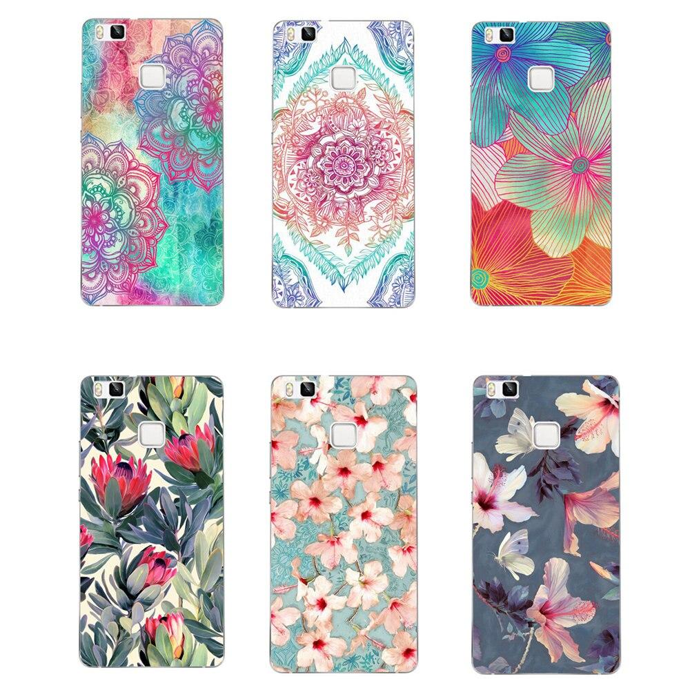 Super Beautiful Flowers Case For Huawei Ascend P6 P7 P8 P9 P10 P20