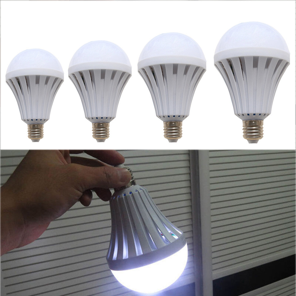 LED 5W 7W 9W 12W 15W Emergency Light Bulb Rechargeable Intelligent Lamp Cool White No UV/IR Radiation no heat radiation 2018