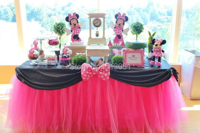 100 Polyester 10050 Cm Tulle Table Skirt For Wedding Birthday Party Decoration 2017