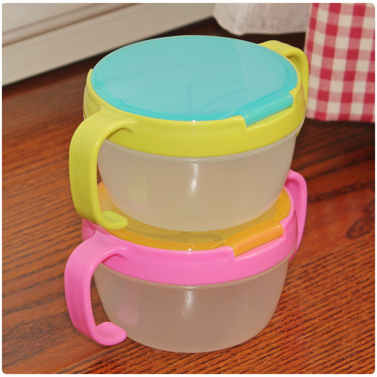 2017 Hot Sale New Arrival Zoo Baby Kids 360 Rotate Spill-proof Bowl Dishes Tableware Feeding Snack Food Container Infant Assist