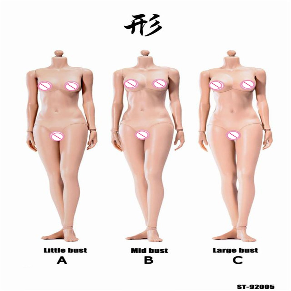 1//6 Female Action Figure Woman Slim Value Body DIY Doll 12 Inches Model Toy