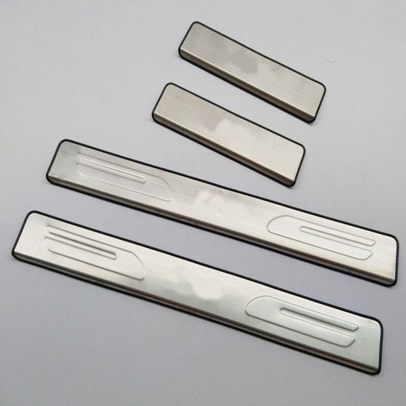 Prix pour Livraison gratuite pour hyundai i10 2008 2010 2015 porte en acier inoxydable bande seuil i10 pédale de bienvenue accessoires automobiles 4 pcs car Styling