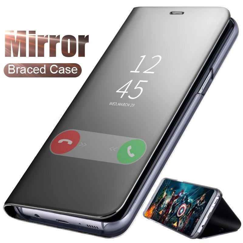 Clear View Smart Mirror Flip Case For Xiaomi 9 8 SE Lite 9T Pro 5X 6X A1 A2 Mix 3 Phone Case For Mi Pocophone F1 Case Cover
