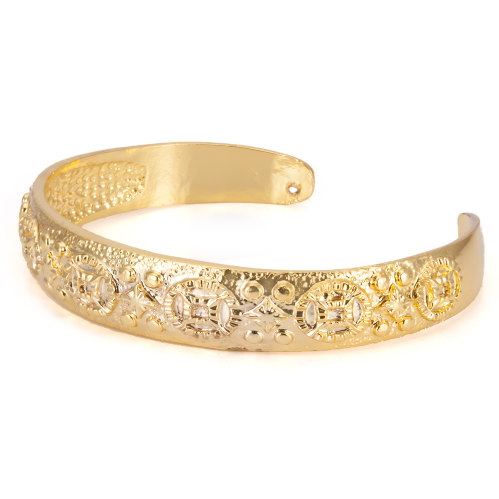 Wollet Jewelry Bangle for Men Women Gold Color in Bangles from Jewelry Accessories