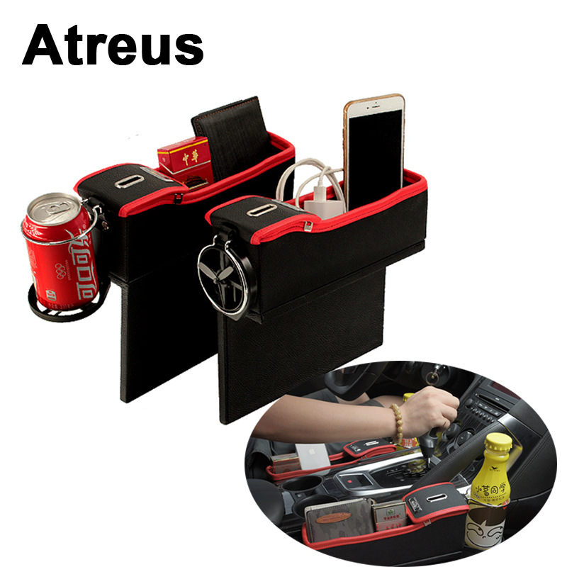 Atreus Car Seat Pocket Organizer For Audi A6 C6 A3 A4 B5 6 B8 A5 Q5 BMW E46 E39 E90 E36 E60 E30 F30 F20 X5 Mercedes Accessories back seat covers leather car seat cover for bmw e30 e34 e36 e39 e46 e60 e90 f10 f30 x3 x5 x6 car accessories car styling
