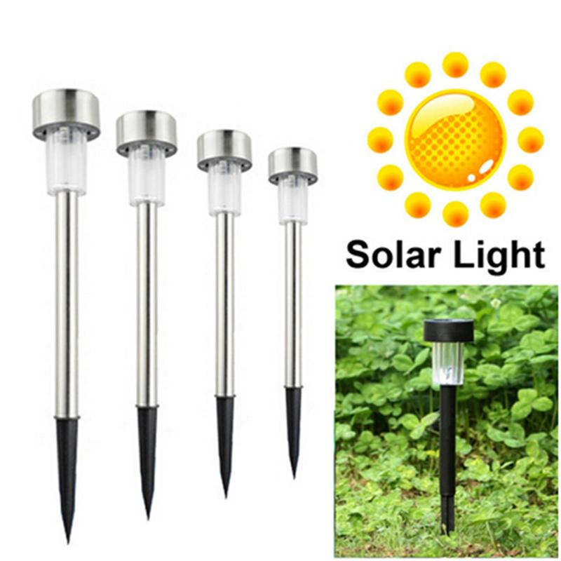 10pcs Stainless Steel Solar Powered LED Light Solar Panel for Pathway Landscape Garden Outdoor Patio Yard