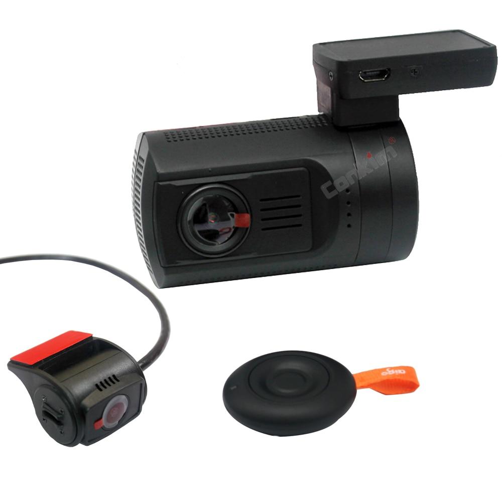 Conkim Dual lens Car Dash Cam Super Condensatore Auto DVR Recorder FULL HD1080P del Precipitare Della Macchina Fotografica GPS CPL Hardwire Mini 0906 - 4