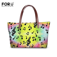 bc8c0bfeb FORUDESIGNS DJ Guitar Women Handbag Rainbow Music Notes Print Ladies Large  Shoulder Bags Beach Bag Shopping. FORUDESIGNS DJ Guitarra Mulheres Bolsa ...