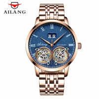 Luxury brand Men Automatic mechanical watch Unique Design Style mens Tourbillon Watches Double tourbillon clock relogio 2018