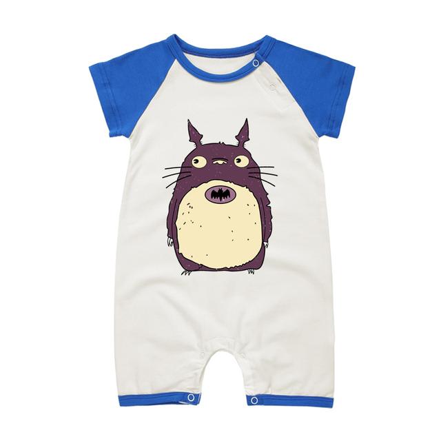 Pyjamas Bébé TOTORO – Barboteuse Bébé À Manches Courtes