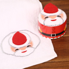 Merry Christmas Gift Cupcake Cotton Towel Natal Noel New Year Decoration Christmas Decorations for Home Kids Children 30x30cm