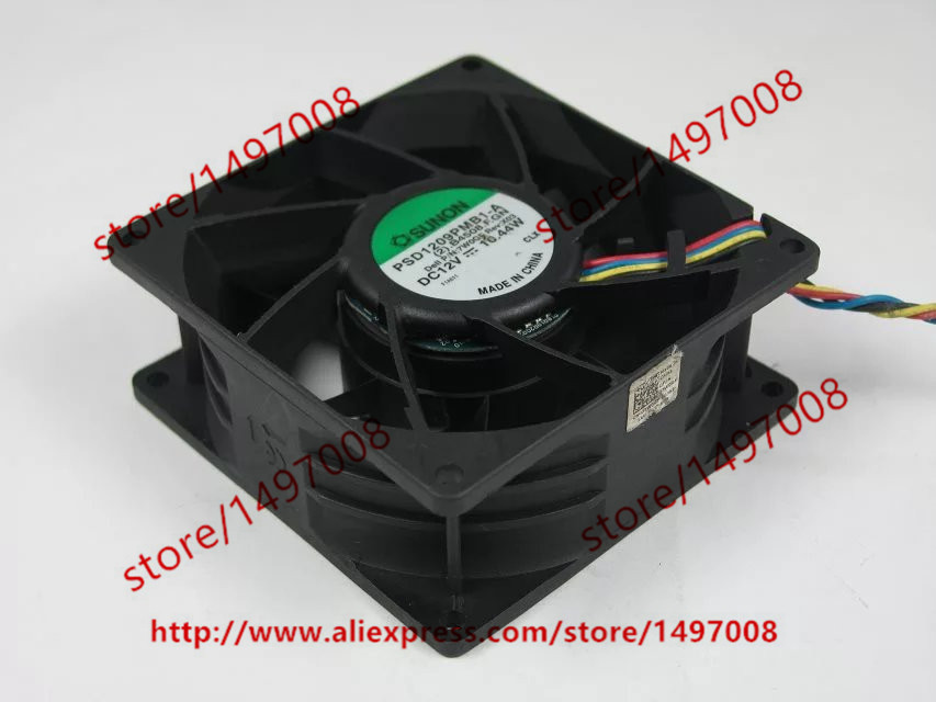 Free shipping For SUNON PSD1209PMB1-A (2).B4508.F.GN DC 12V 10.44W 4-wire 90X90X38mm Server Square Cooling Fan free shipping original sunon 4020 12v 0 7w gm1204pkv2 a ultra quiet 2 wire cooling fan