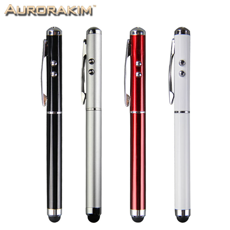 4 In 1 Multifunction Stylus Pen Laser Pointer LED Torch  Touch Pen Screen Stylus Ball Pen For Iphone  For Ipad    Free  Shipping