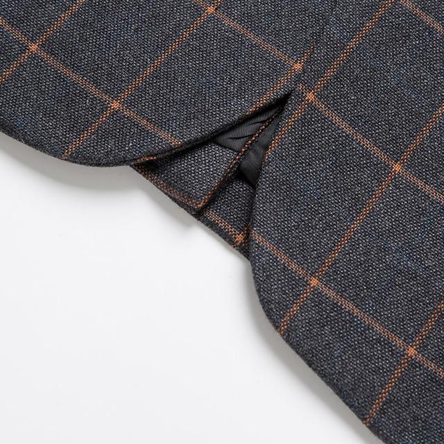 Plaid Leisure Blazer Men Slim Fit Single Button 2018 New Brand Clothing Blazer Jackets M- 5XL Casual Office Blazer Masculino