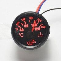 Nowy 52 MM czarny silnik Krokowy mometer samochodów motocykl 12 V Miernik Temp Wody 40-120 ° C I 100-250 F