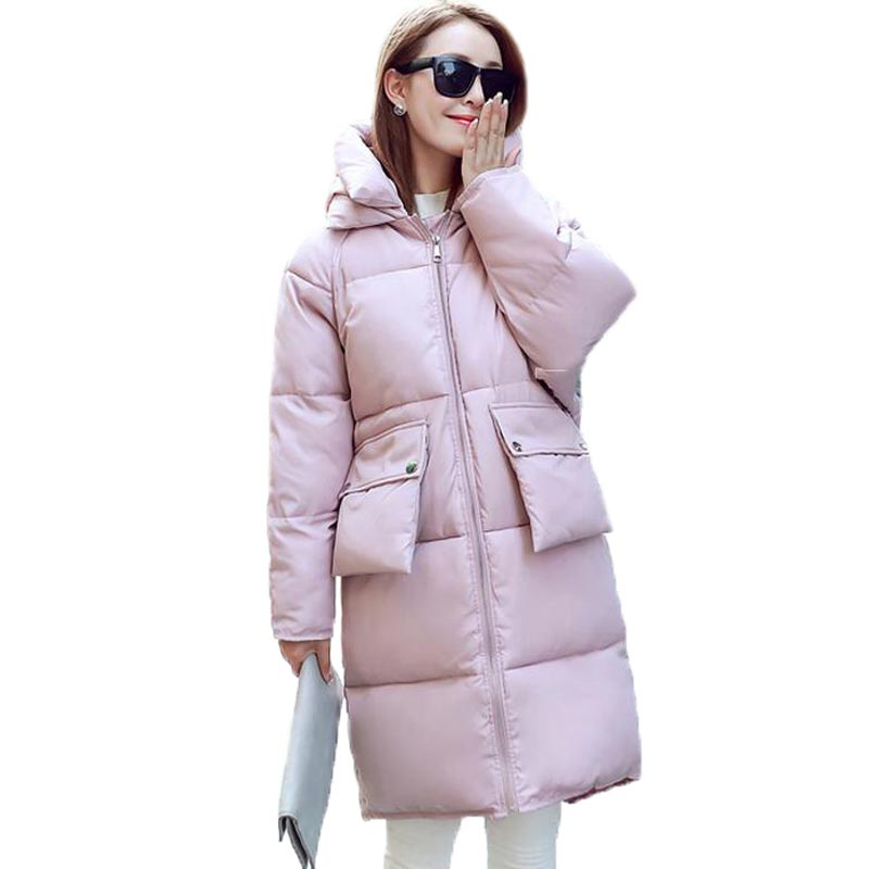 2016 Women Winter Jacket Female Long Down Cotton Parkas Coat Hooded Winter Wadded Coat Loose Thick Outerwear Plus Size W040 1 year warranty 1pc oem kwipc 19 4 resistive industrial touch panel pc dual 1 8g cpu 500g hdd disk 1440x900 comx2 usbx4