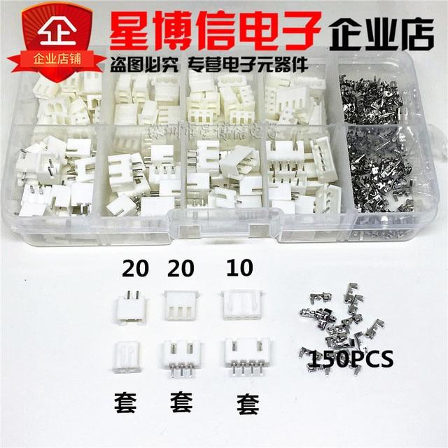 250 sztuk XH2.54 2 p 3 p 4 p pin 2.54mm zestaw zacisków/obudowa/Pin Header złącze JST złącza drutowe adapter XH zestawy TJC3