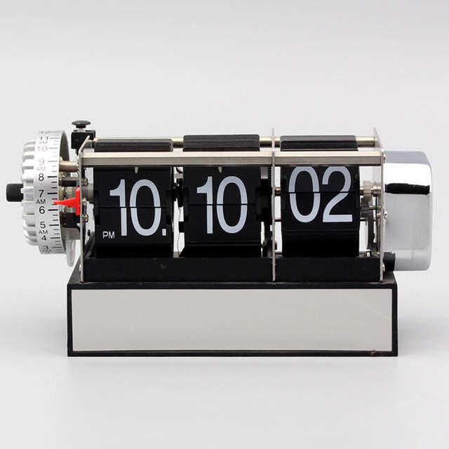 Digital Flip Clock Vintage Decorative Bedroom Retro Flip Down Clock with  Seconds Auto Page Table Clocks Student Desk Watch
