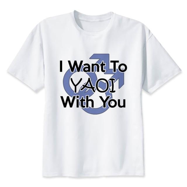 688ea3acd yaoi t shirt men cartoon 2019 cool funny white tshirt print T-shirt men Tees  y2312