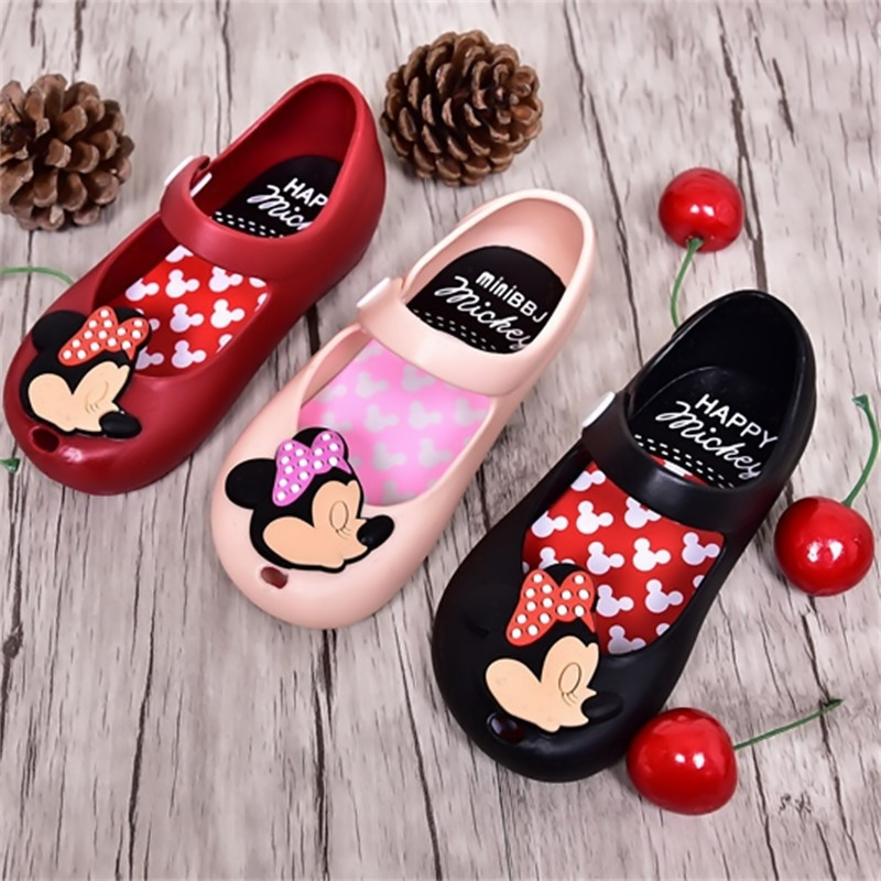 d66dd223ae06 Mini Melissa 2017 Brazil New kids Jelly Shoes Mickey   Minnie Girls Crystal Jelly  Shoes children Sandals Fish Head Shoes 13-17CM