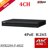 English Version Dahua 4Ch NVR 1U 4PoE 4K H 265 Network Video Recorder H 265 H