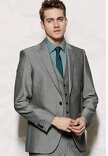 Custom Made Business Men Suits Elegant Styling Tuxedos Men's Wedding Suits Prom Suits (Jacket+Pants+Vest)