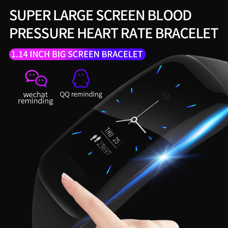 Image 3 - Smart Bracelet LIGE Woman Fitness Bracelet Blood Pressure Heart Rate Monitor Pedometer Smart Watch Men adapt to Android and IOS-in Smart Wristbands from Consumer Electronics