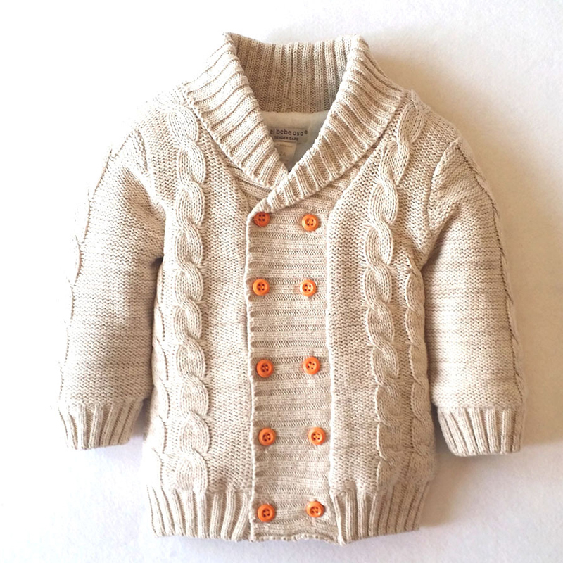 New Winter Children Clothing Outerwear Boys Girls Double Breasted Sweater Cotton-Padded Thickening Jacket XL510
