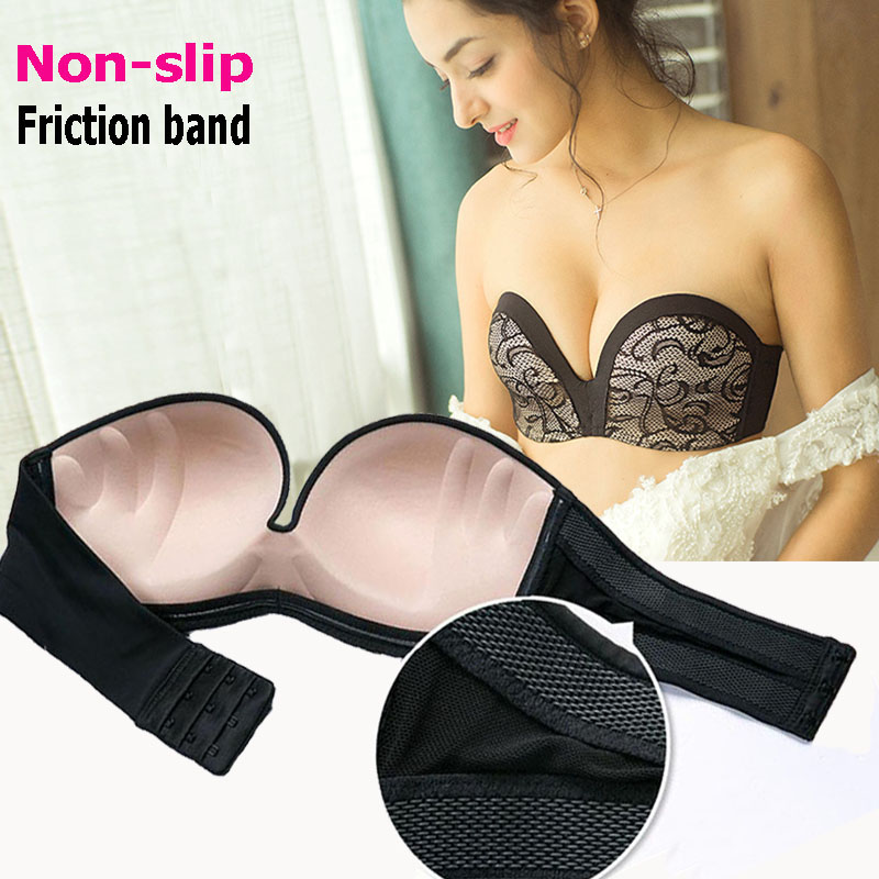 top-rated authentic clearance sale limpid in sight Friction Band Non slip Strapless Bra For Women 2017 Latest ...