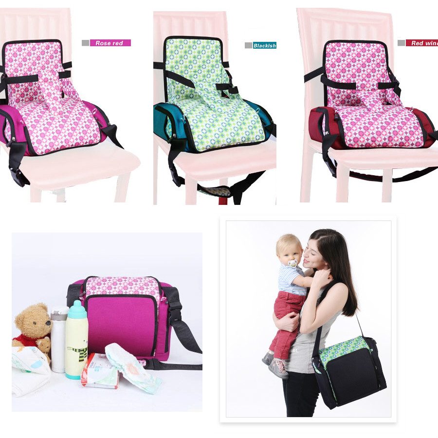 Hot Baby Portable Booster Dinner Chair Oxford Water proof Chair Fashion Seat Feeding Highchair For kids chair for christmas gift