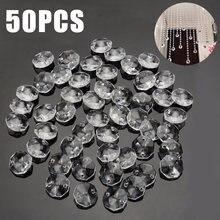 50 шт 14 мм Хрустальные стеклянные призмы Восьмиугольные бусины