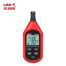 Mini termômetro e higrômetro digital lcd, termômetro medidor de temperatura e umidade do ar digital lcd ut333bt UNI T