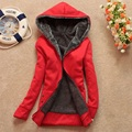 New 2016 Autumn Winter Casual Warm Zipper Women Hooded Long Hoodies Sweatshirt Plus Size Women Clothing Thick Fleece Jacket 6009