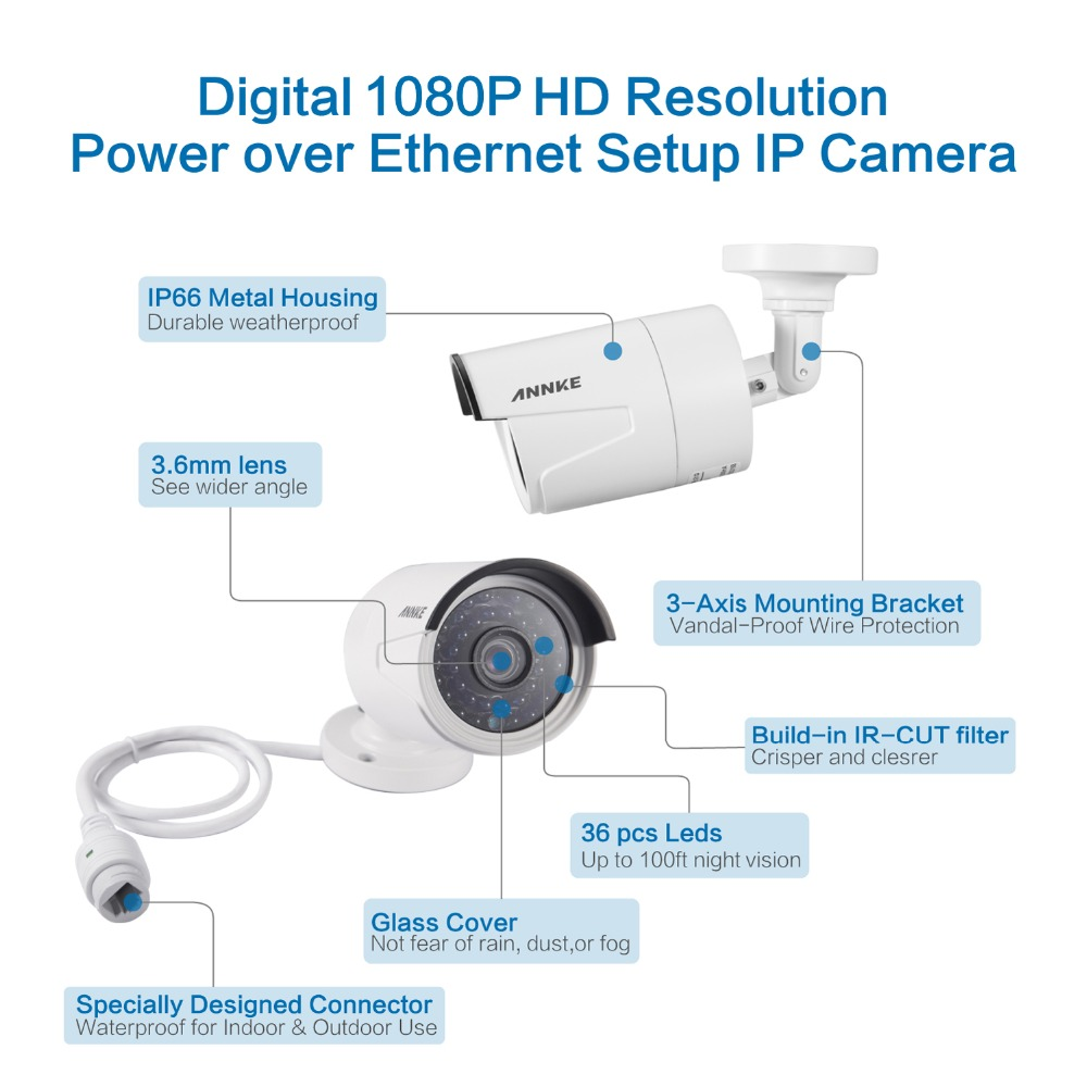sannce 4ch nvr 960p ip network poe video record ir outdoor cctv security camera system home video surveillance kit in surveillance system from security  [ 1000 x 1000 Pixel ]