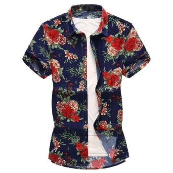 Summer Flower Shirt Men Leisure Beach style Men's Shirts Floral Blouse Mens clothing Slim fit Fashion New floral shirt summer flower social shirt for men hawaiian beach style blouse men s clothing fashion slim fit new